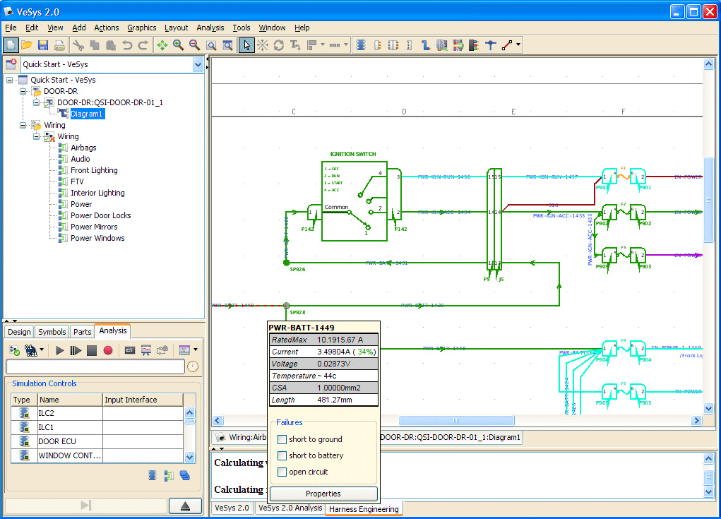 Vesys design mentor graphics electrical simulation validates the design as it is created greentooth