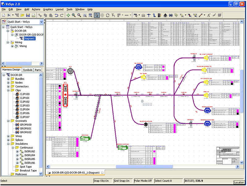 VeSys Harness. Rapid harness design completion  sc 1 st  Mentor Graphics : catia wiring harness design tutorials - yogabreezes.com