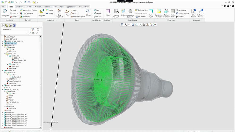 FloEFD for LED Screenshot