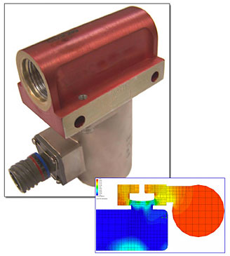A solenoid valve to an optimized design